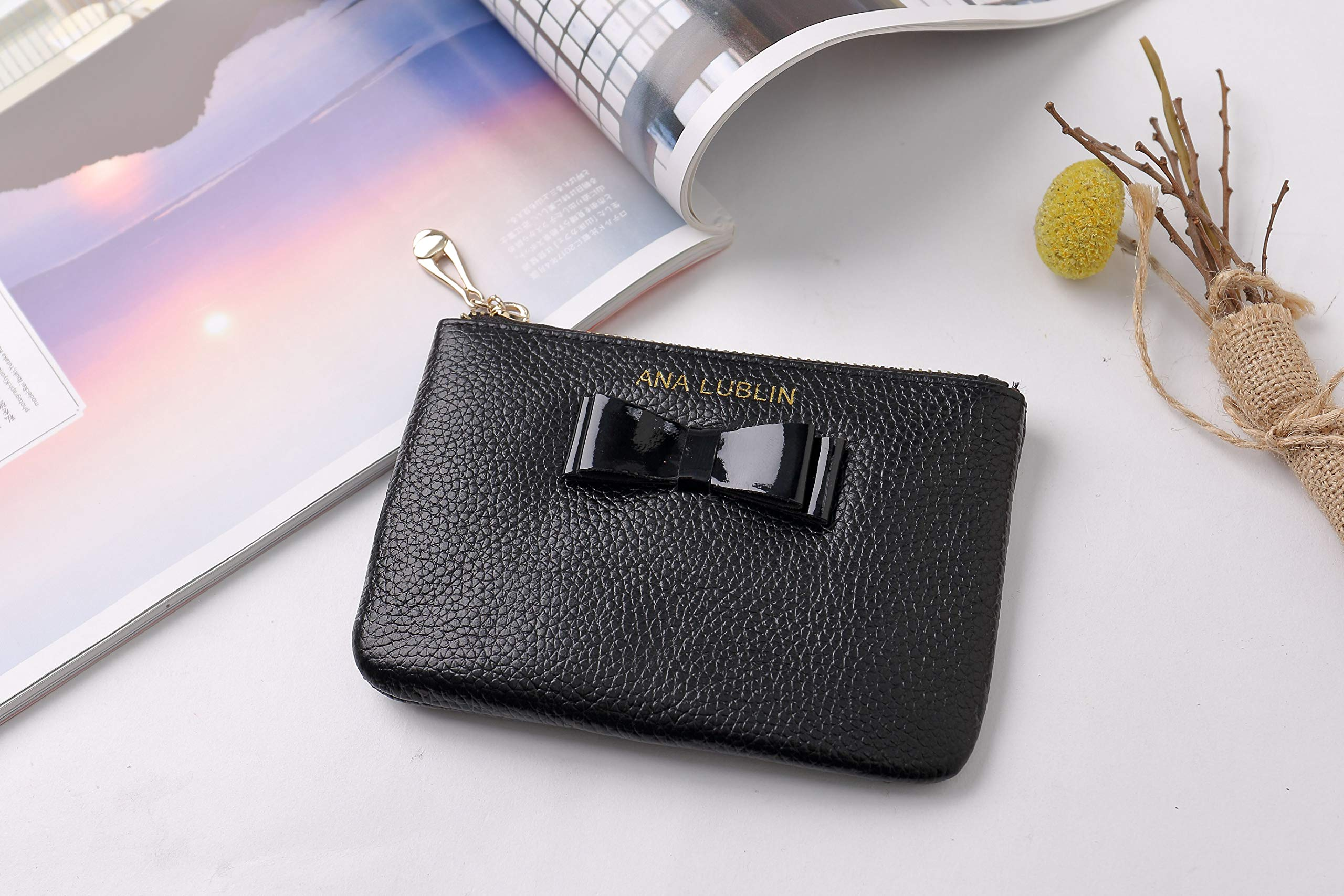 ANA LUBLIN leather Wallet Small Coin Purse Women RFID Blocking Mini Money Pocket by ANA LUBLIN (Image #7)