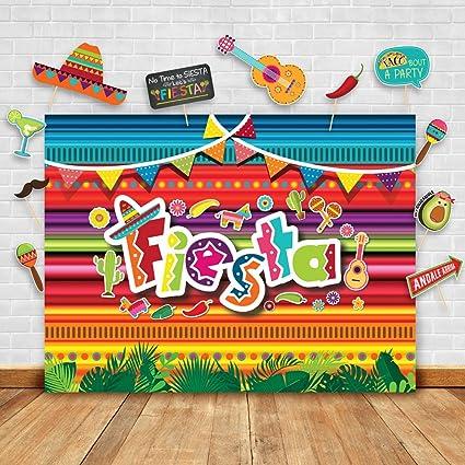 Amazoncom Summer Fiesta Theme Photography Backdrop And Studio