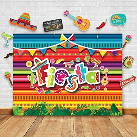 bbf918da4d4c Summer Fiesta Theme Photography Backdrop and Studio Props DIY Kit. Great as  Mexican Dress-