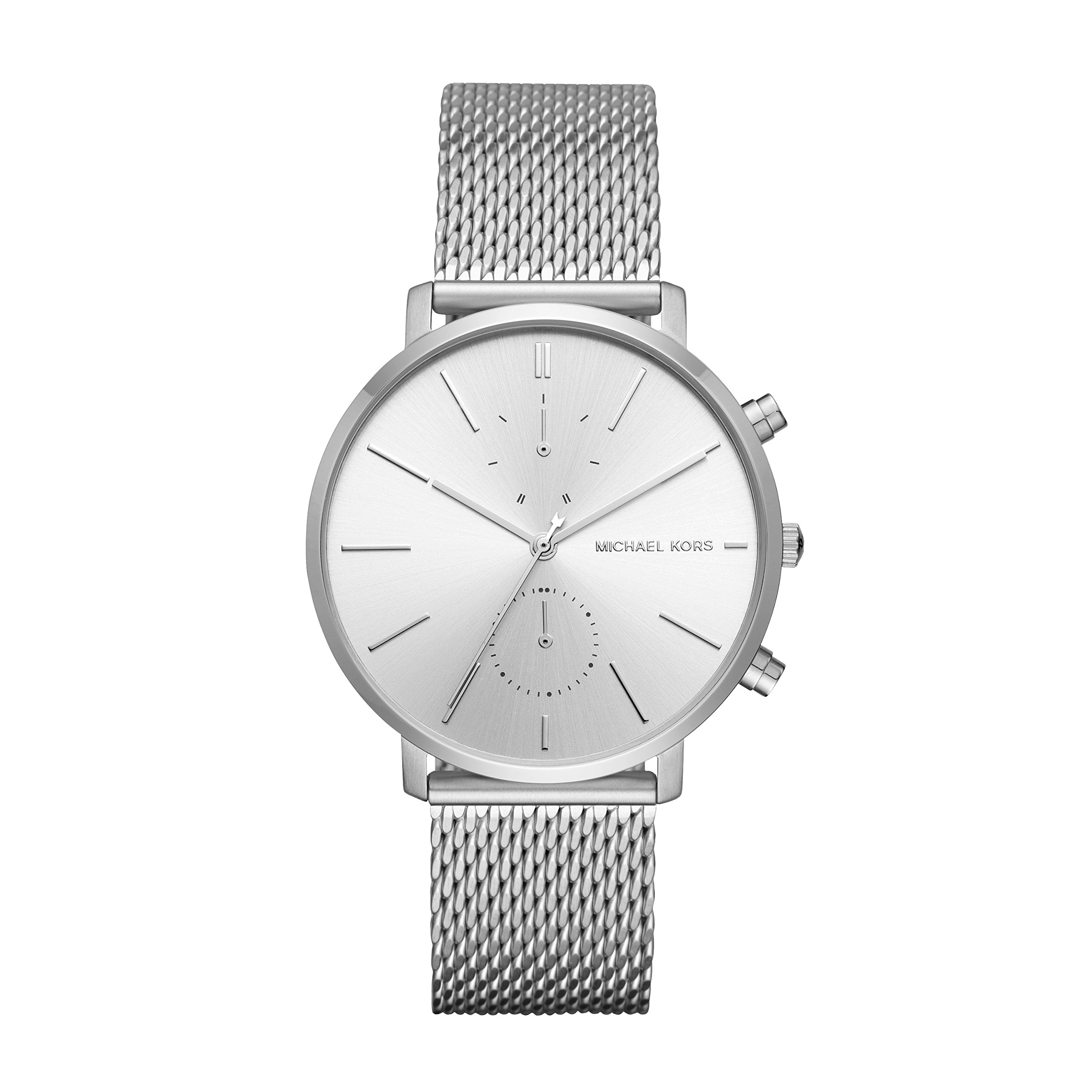 Michael Kors MK8541 Jaryn Silver Stainless Steel Mesh Strap Chronograph Men's Watch