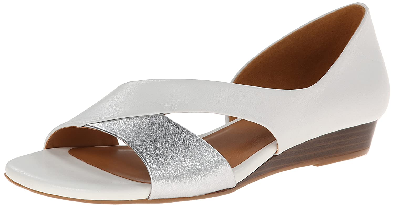 Naturalizer Women's Jazzy Dress Sandal B00L876MY2 10 C/D US|White/Silver