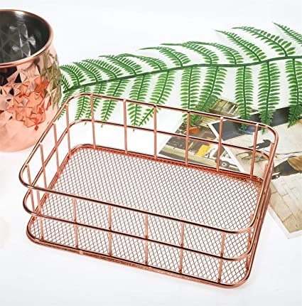1ee788cbb88e29 Amazon.com   Rose Gold Office Supplies-Desk Organizers-Metal Wire ...