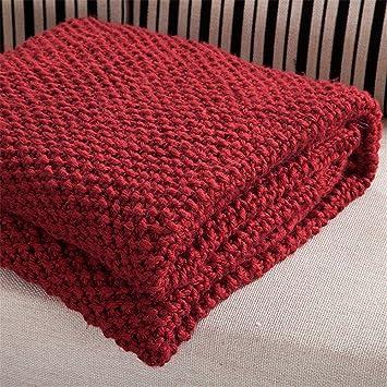Hitachi Five Manta de hilos de algodón mano Tiempo Libre ligero sofá decoración protectora Toalla Adecuado para Hogar: Amazon.es: Hogar