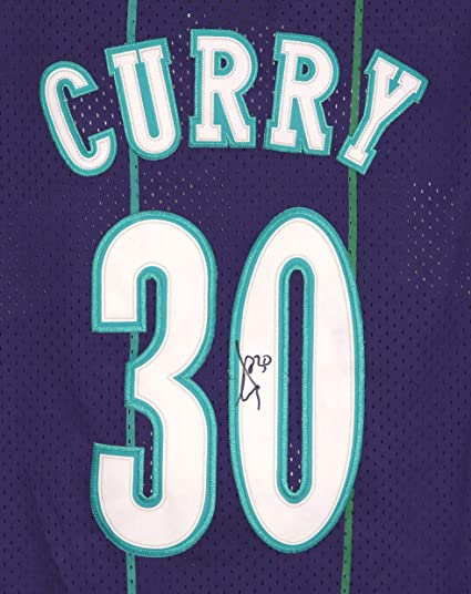more photos 50426 5156c Dell Curry Charlotte Hornets Signed Autographed Purple #30 ...