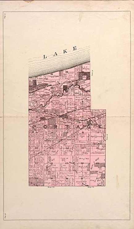 Amazon Com Historic 1895 Map Lee And Lee S Atlas Of Porter County