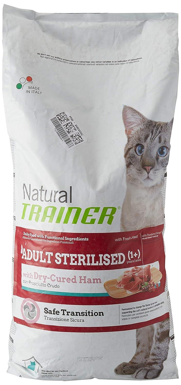 Trainer Natural Cat Adult Sterilised con carni Bianche con prosciutto Crudo 12,5KG