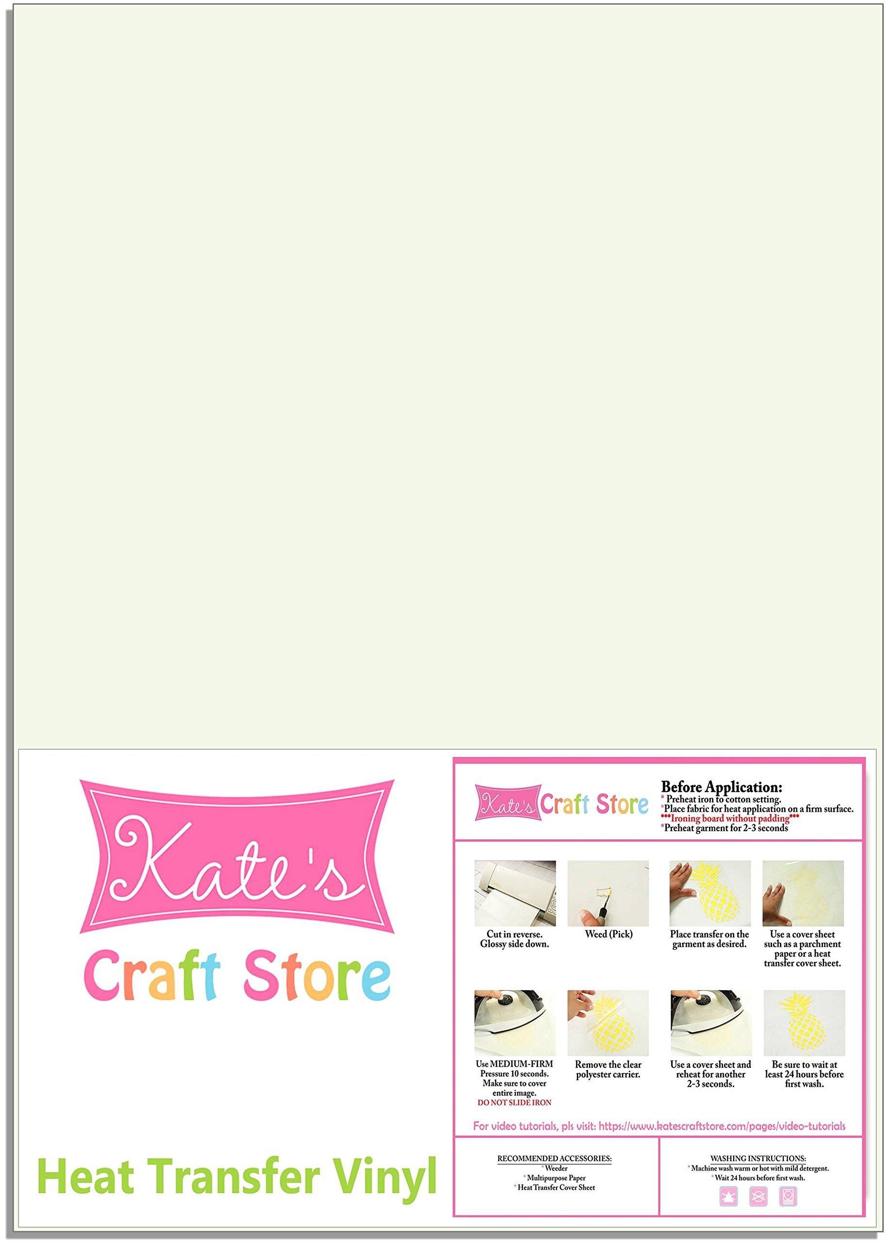 Kate's Craft Store - 12'' x 15'' Siser Easyweed T-Shirt Iron-on Heat Transfer Vinyl Sheet - GLOW IN THE DARK