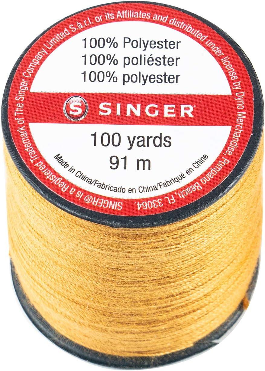 Old Gold SINGER 67120 Blue Jean Thread 100 Yards