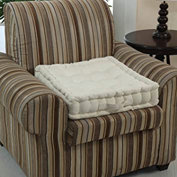 Homescapes Coussin rehausseur crème pour chaise ou fauteuil (50 x