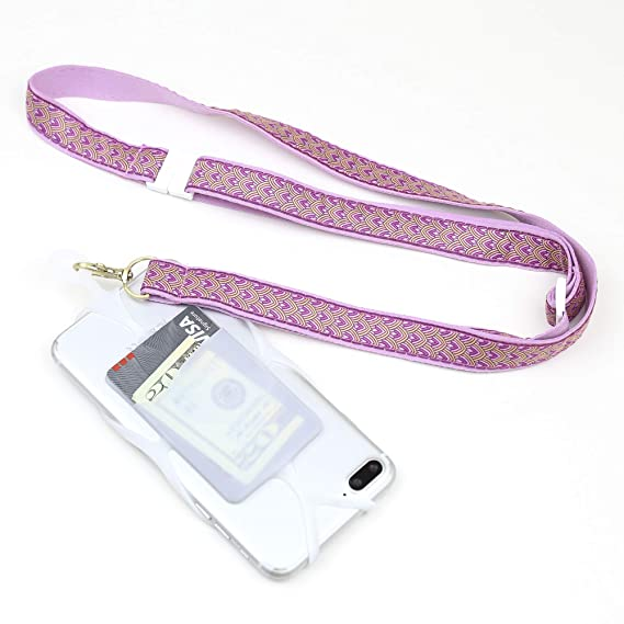 best sneakers d6c8d e14be Gear Beast Cell Phone Lanyard, Universal Phone Case Holder with Card  Pocket, Custom Adjustable Ribbon Neck Strap/Crossbody Strap with Safety  Breakaway ...