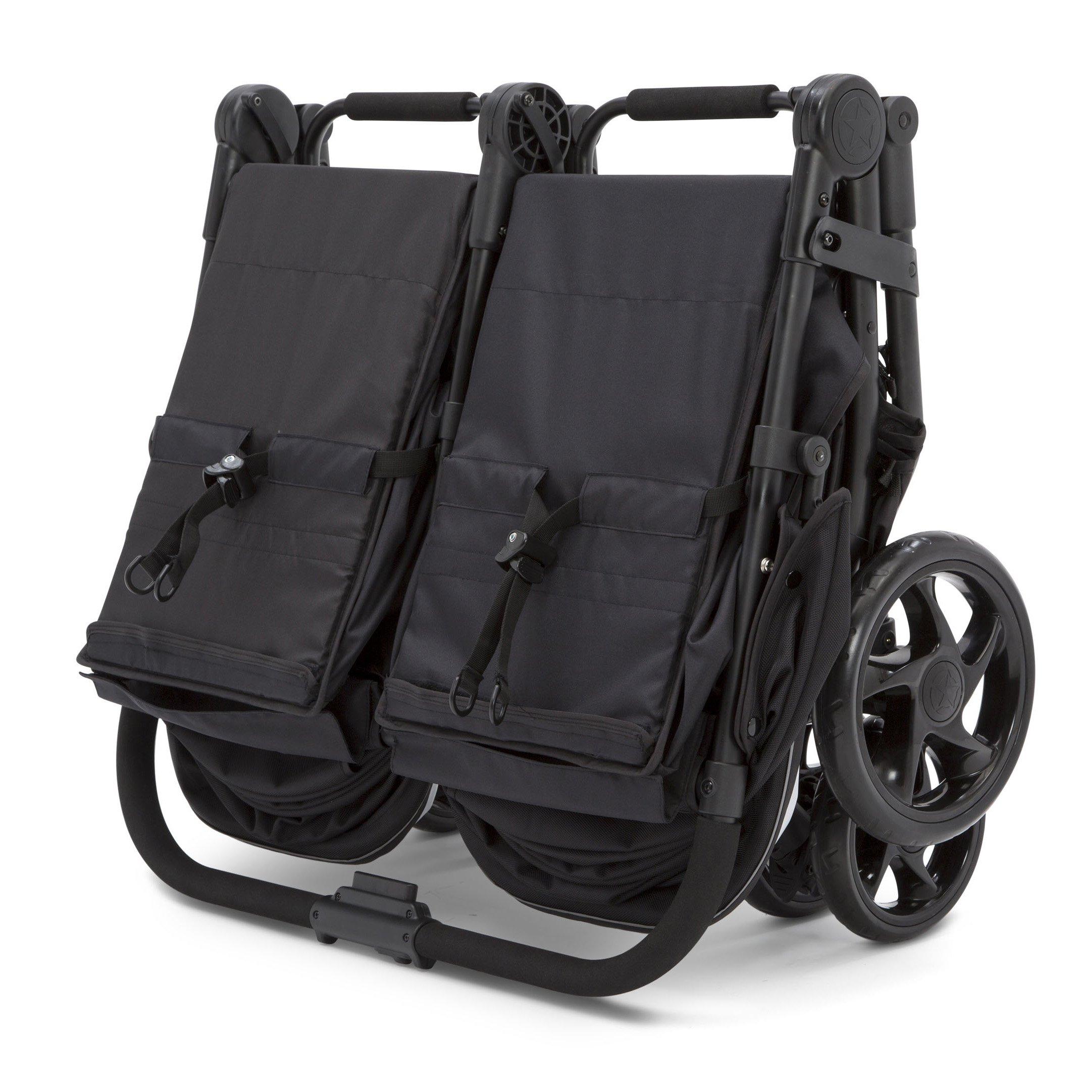 Jeep Destination Ultralight Side x Side Double Stroller, Midnight (Black) by Delta Children (Image #8)