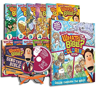 Jellyfish Labs Buck Denver Asks What's in The Bible - Full Series with Coloring Book: Toys & Games