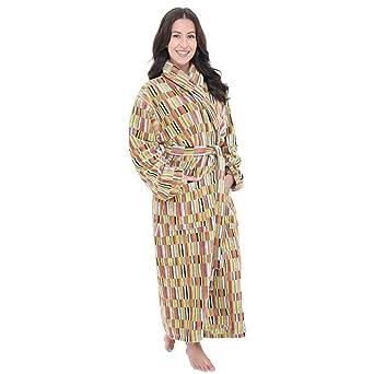 Artemis Mens and Ladies Unisex Luxury Velour Towelling Dressing Gown  Bathrobe. Grey Yellow Orange Multicoloured. S M L XL  Amazon.co.uk  Clothing 40018eac2