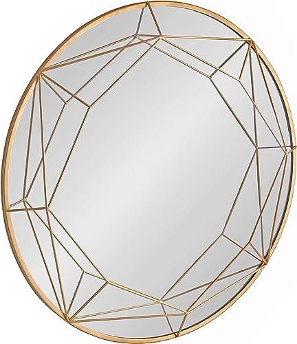 Kate and Laurel Keyleigh Modern Round Metal Framed Wall Mirror