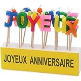Kim'Play - 621 - Décoration - Bougies texte 'Joyeux Anniversaire'