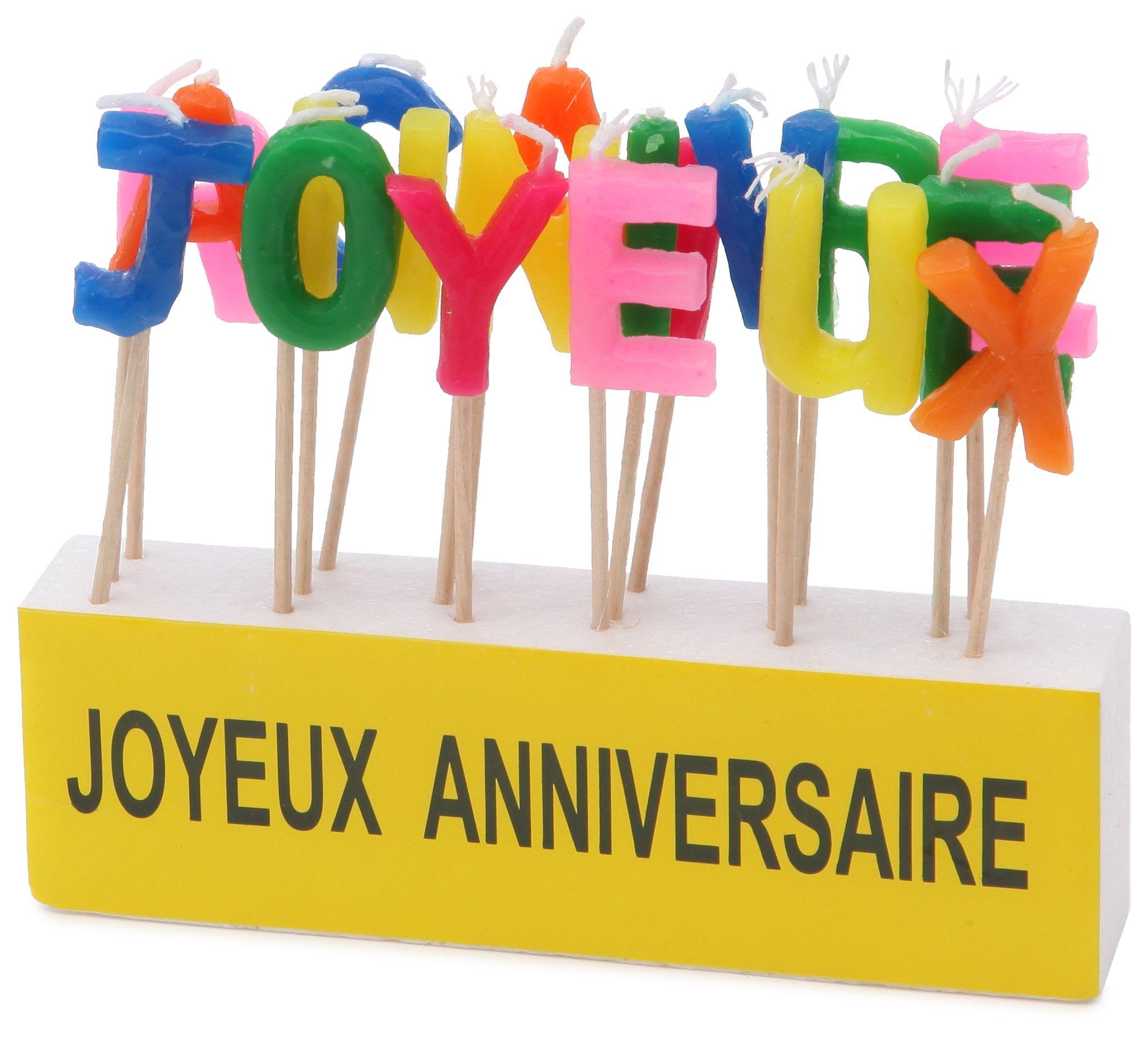 Kim'Play - 621 - Décoration - Bougies texte ''Joyeux Anniversaire''