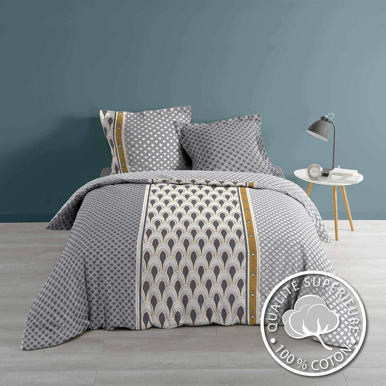 Mandala Bettwäsche 240x220 Baumwolle Bettdecke Übergröße Bettgarnitur blau 3tlg