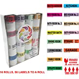 "Infi-Touch Moving Labels -800 Color Coded 16 Rolls – 50 Labels Par Roll - with Fragile Stickers |2.5"" x 4.5"" Size