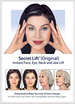 Amazon Com Instant Face Neck And Eye Lift Dark And Light Hair Facial Treatment Products Beauty