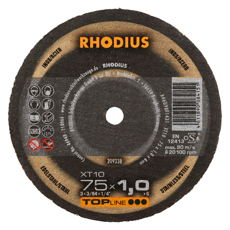 RHODIUS extra d/ünne INOX Minitrennscheiben Metall XT10 MINI /Ø 50 mm f/ür Geradschleifer Druckluftschleifer Metalltrennscheibe 50 St/ück