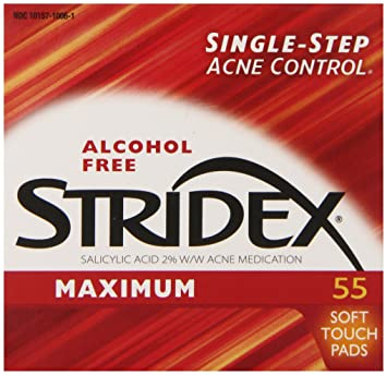 Stridex facial cleansing pads