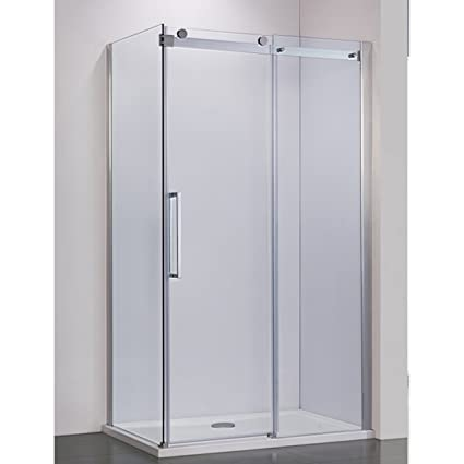 Bai 0924 Frameless Sliding Glass Shower Enclosure With Side Panel
