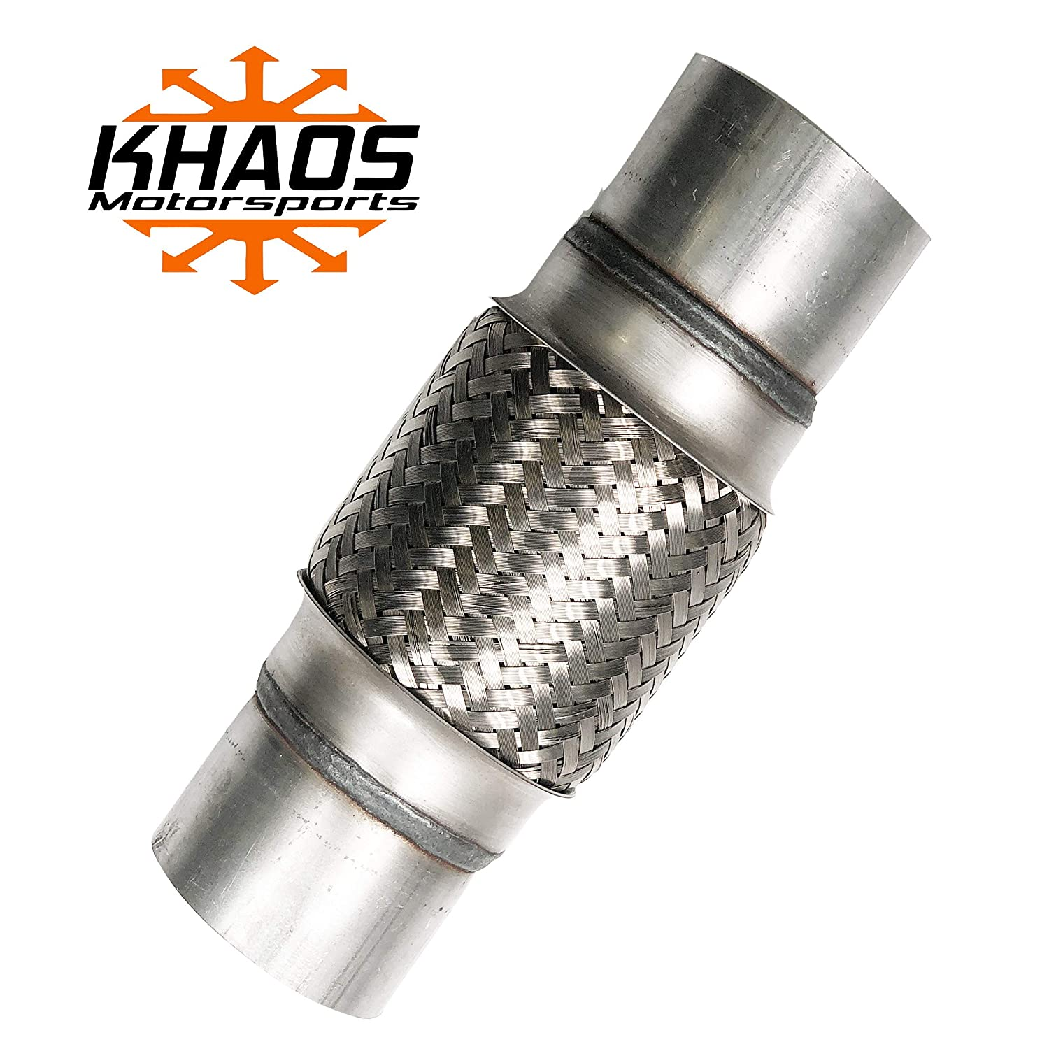 """3/"""" x 10/"""" Flex Pipe Exhaust Stainless Steel Double Braid Heavy Duty Coupling Tube"""