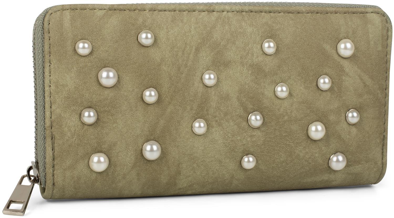 styleBREAKER Porte-monnaie d/écor/é de perles devant portefeuille couleur:Bleu clair femmes 02040092 fermeture /à glissi/ère tout du long