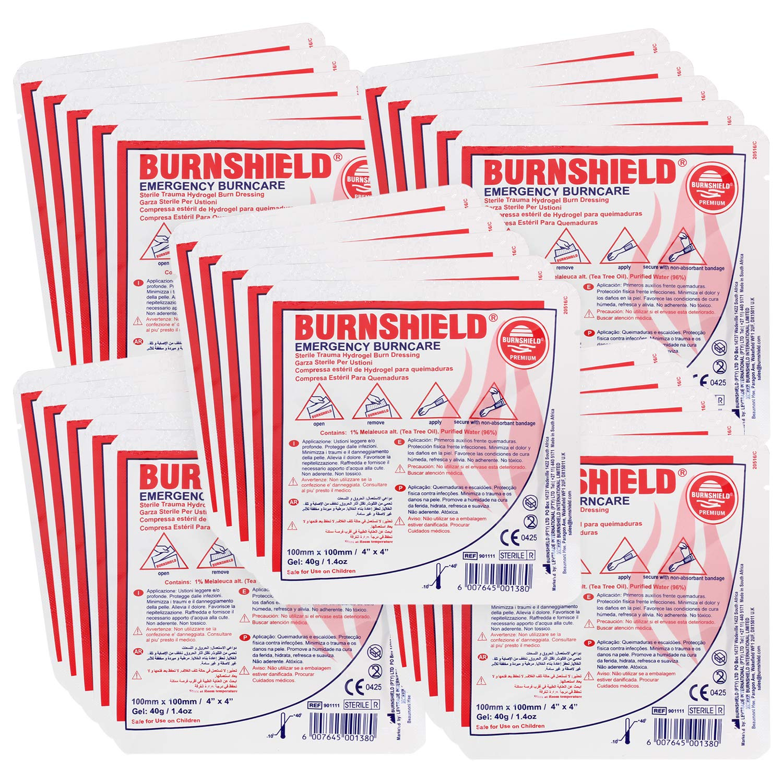 Burnshield 4'' X 4'' Burn Dressing, Sterile (Pack of 25) by Burnshield