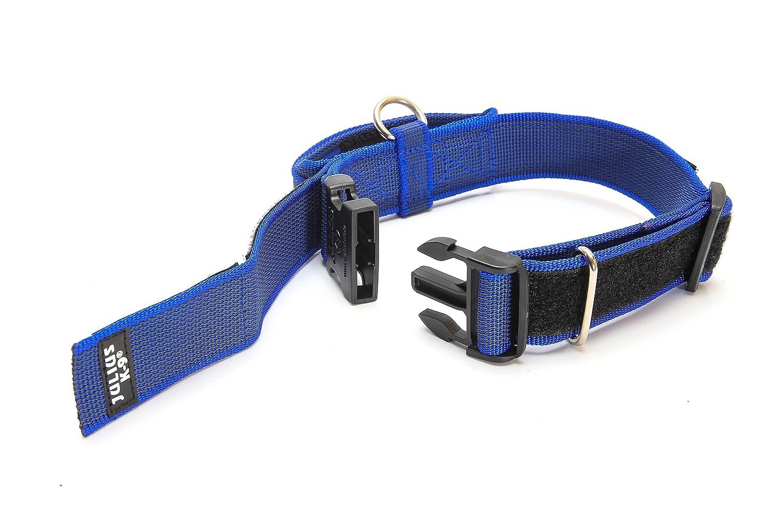 Black//Gray Collar para perro Negro 40 mm*38-53 cm Julius-K9
