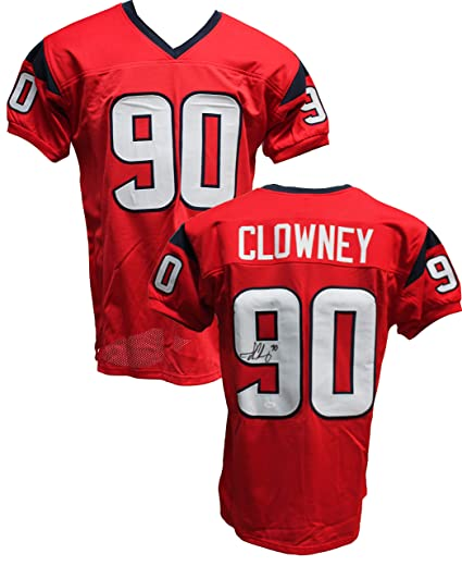 Authentic Jadeveon Clowney Autographed Signed Custom Red Jersey JSA ... 9d0b2b1f7