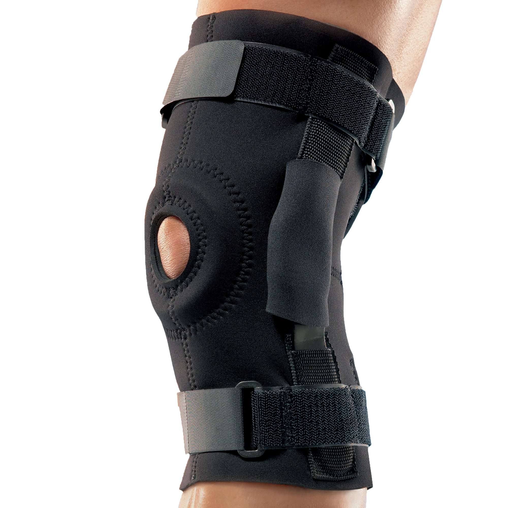 Futuro Hinged Knee Brace, Adjust to Fit, Black, Firm Stabilizing Support