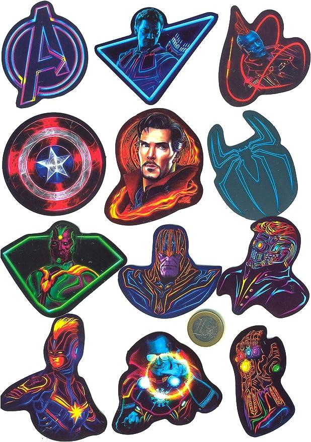 Vinyls Stickers Nicht Vulg/är Set von 30 Superhelden Neon Aufkleber Graffiti Marvel SetProducts Top Stickers Bomb Anpassung Premium Qualit/ät Scrapbooking
