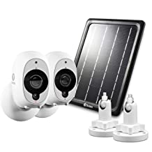 Swann Smart Security Battery Camera, Solar Panel Mounts, White (SRWHD-INT2SOL1ST2-US)