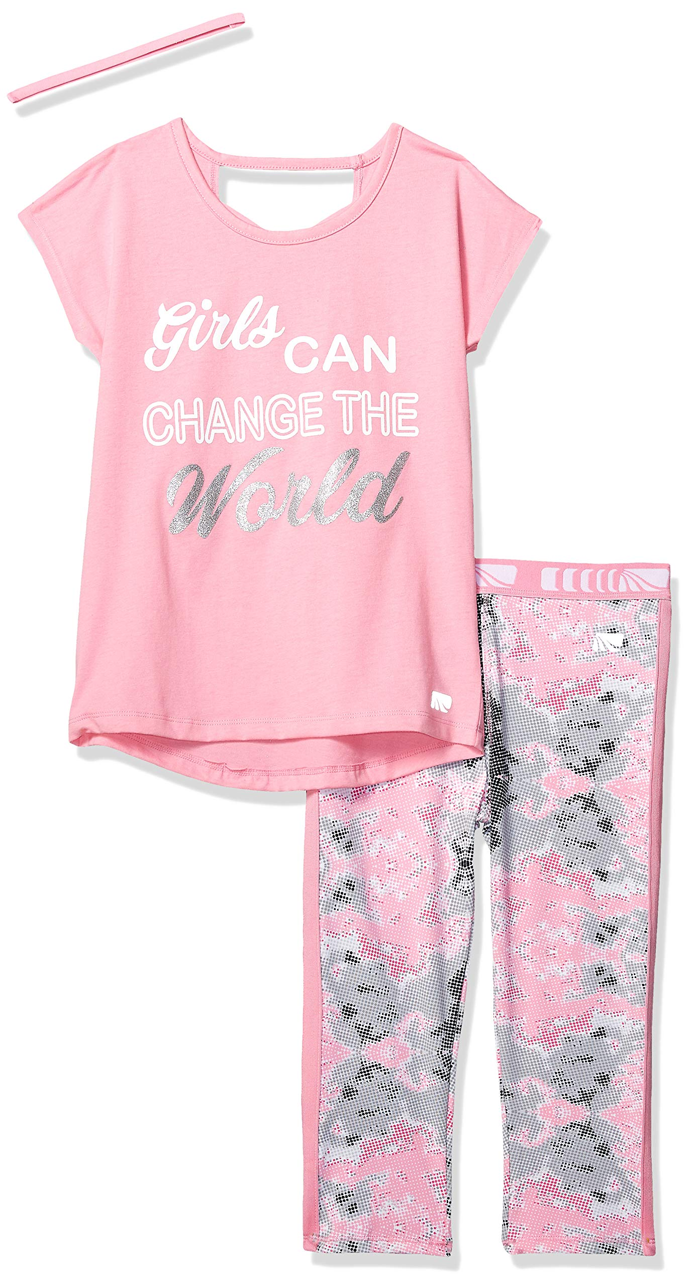 Marika Girls' Big Capri Sets with Headband, Pink Change The World 10/12