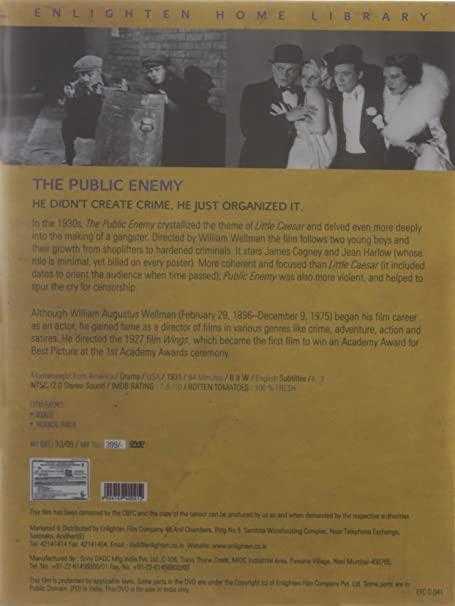 Amazon in: Buy The Public Enemy DVD, Blu-ray Online at Best