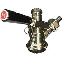 Kegco KT86S-L European Beer Keg Tap Coupler Kegerator S System with Lever Handle
