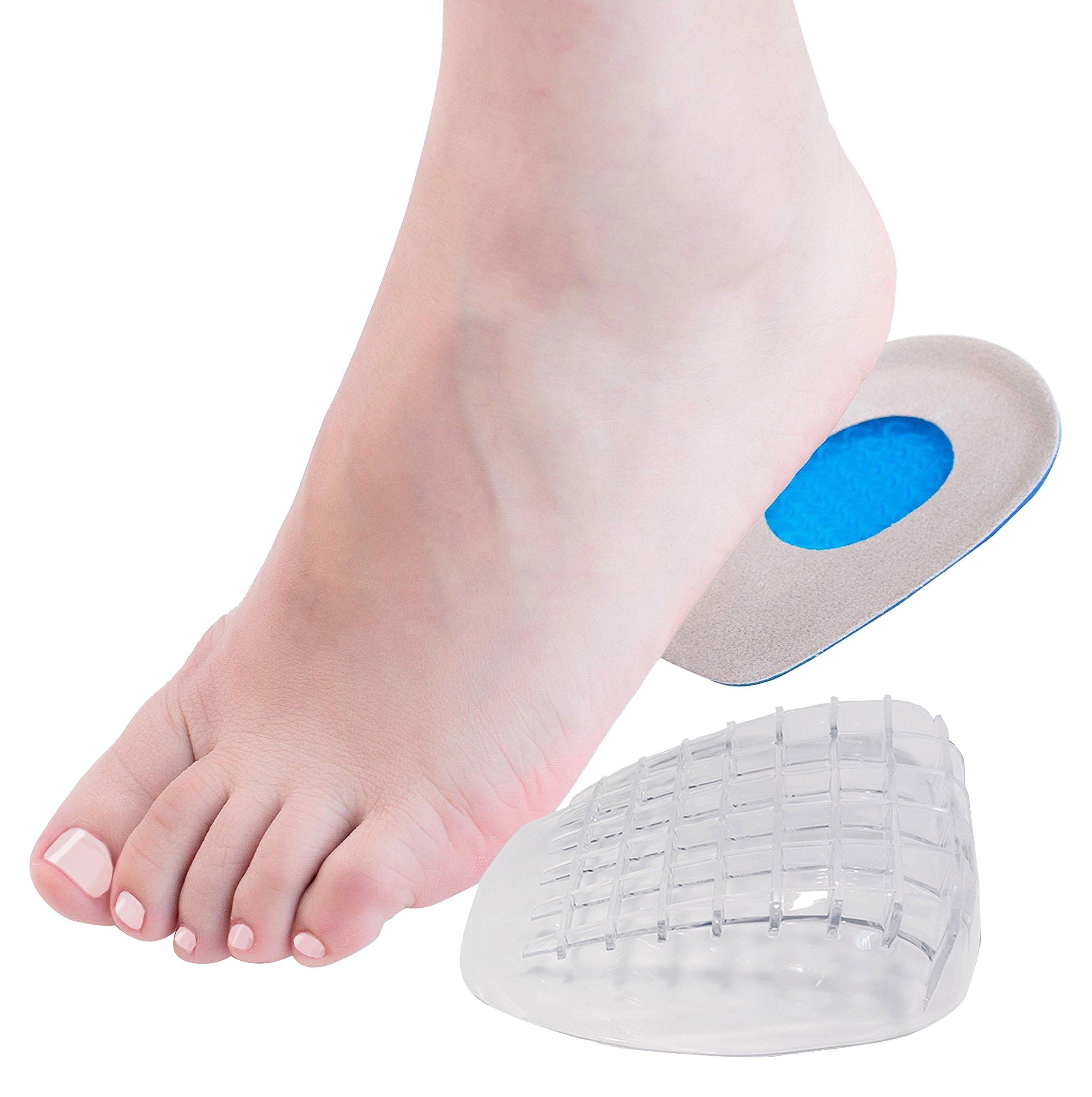 Amazon.com: Dr. Foot\'s Heel Pads, Silicone Heel Cups and PU Gel Heel ...