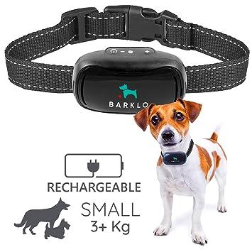 Barklo Pequeño Collar Anti ladridos para Perros Descargas Recargable 12-49cm y Resistente al Agua