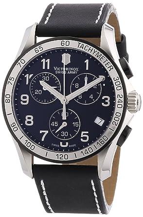 victorinox men s 241404 quartz watch black dial analogue victorinox men s 241404 quartz watch black dial analogue display and black leather strap
