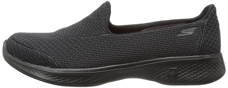 Skechers Performance Women's Go Walk 4 Majestic Walking Shoe B01IIZDQ7C 7 B(M) US|Black/Gray