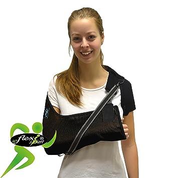 4DflexiSPORT - Cabestrillo brazo y hombro ajustable Dispositivo médico de clase 1 (MHRA). Unisex (Negro, M): Amazon.es: Salud y cuidado personal