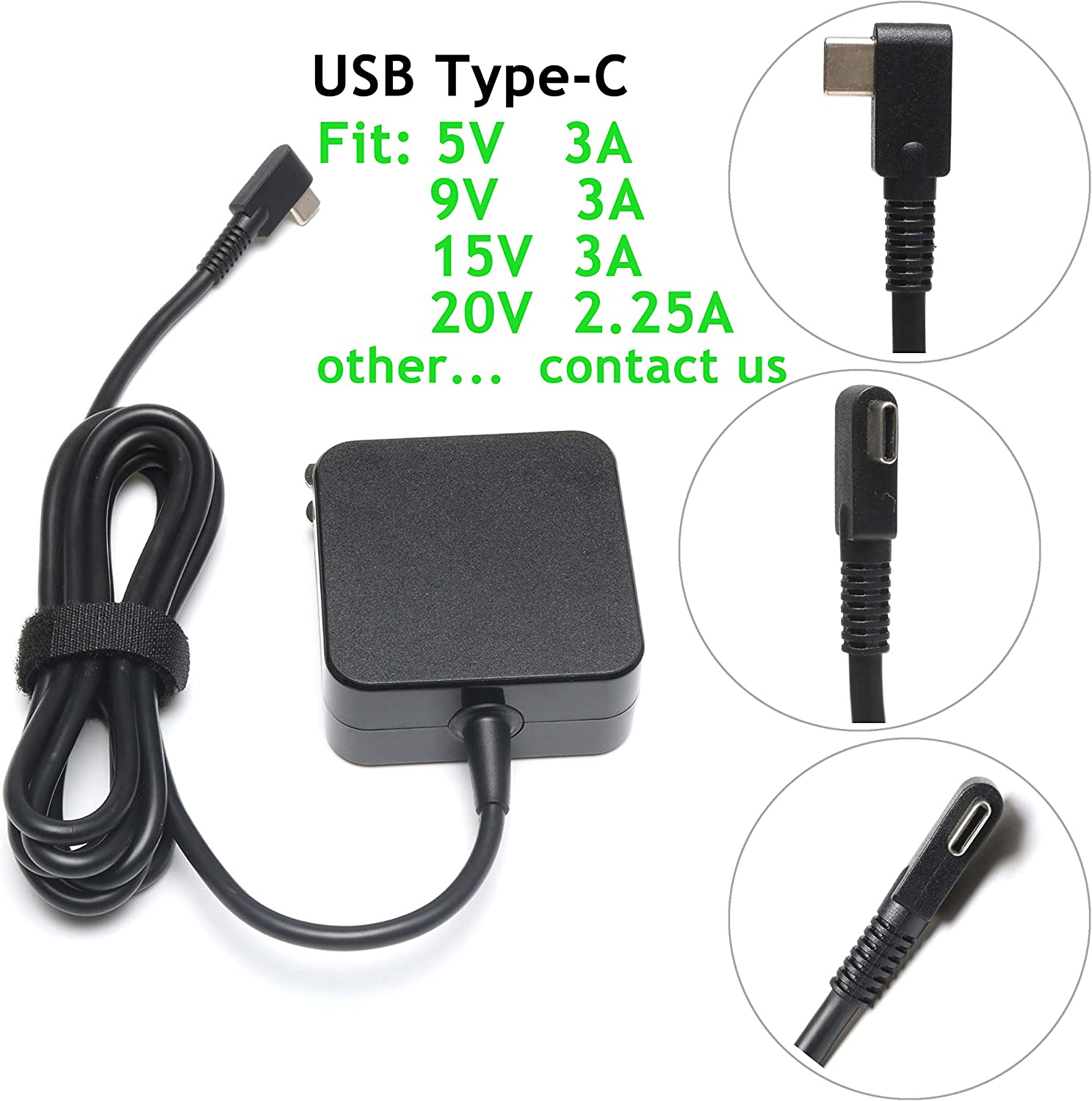 45W USB Type C AC Charger for HP Spectre x360 13 TPN-CA01;Lenovo Yoga 720 910 720-13IKB 910-13IKB;IdeaPad 720s;Miix 720-12ikb;Thinkpad X1 Tablet Yoga 5 Pro GX20M33579 Laptop Power Adapter Supply Cord