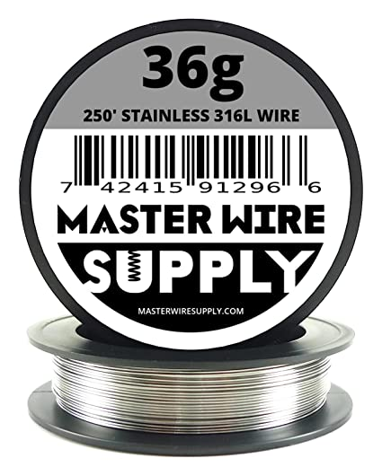Amazon.com: Stainless Steel 316L - 250\' - 36 Gauge Wire