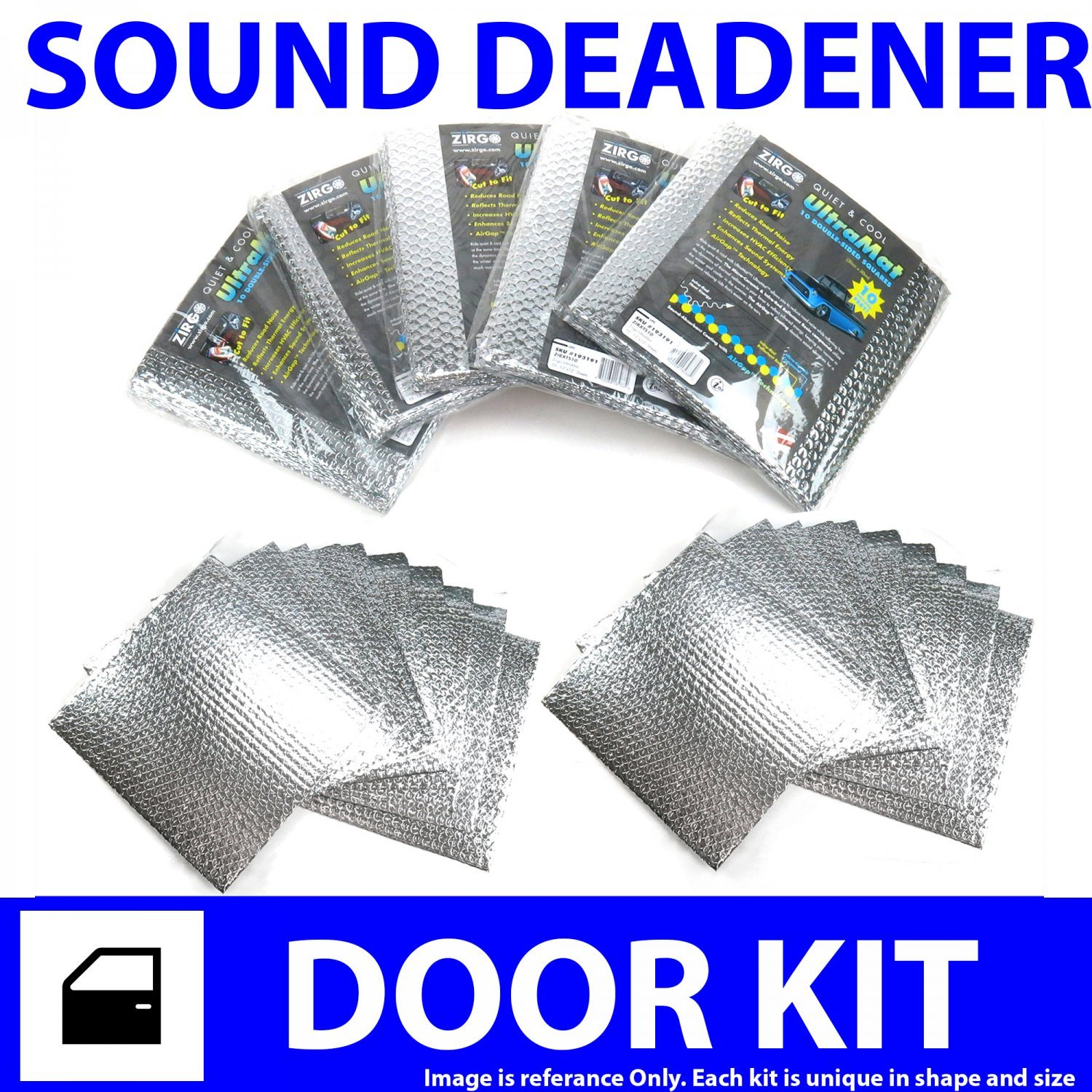 for 94-02 Dodge Truck ~ 2 Door Kit Zirgo 313866 Heat and Sound Deadener