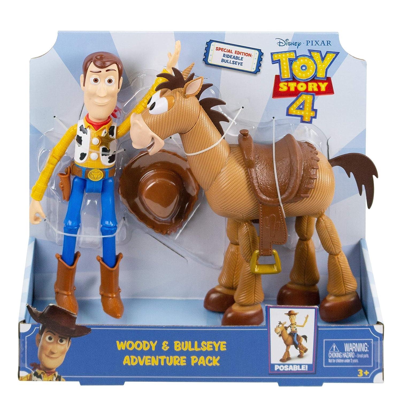 Mattel- Disney Toy Story 4 4-Pack de Aventuras de Woody y Perdigón, Juguetes niños +3 años GDB91, Multicolor GDB91