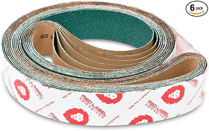 "2/"" x 72/"" Inch 36 Grit Aluminum Oxide Sanding Belts for Metal Grinding 7 PACK"