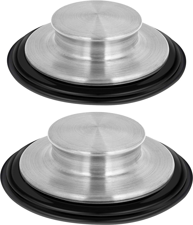 3 3/8 inch Kitchen Sink Stopper Stainless Steel Garbage Disposal Plug Kitchen Sink Plug Fits Standard Kitchen Drain Size of 3 1/2 Inch (3.5 Inch) Diameter (2 Pack)