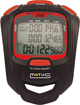 Motus Cronómetro Deportivo con 200 intertiempos intervales y ...