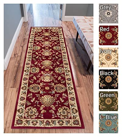 Sultan Sarouk Red Persian Floral Oriental Formal Traditional 2x7 23quot X 7